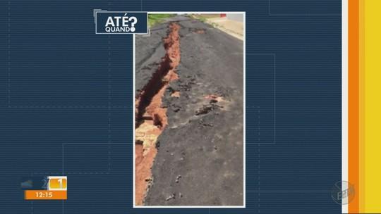 Após 18 meses de cobrança, 'cratera' que dividia rua ao meio é consertada em Monte Alto, SP