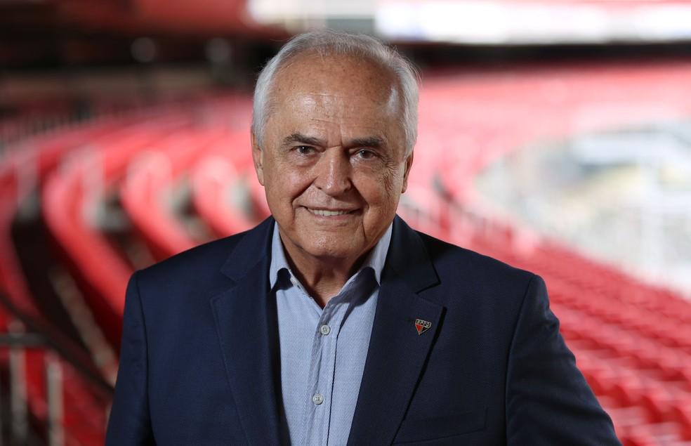 Presidente Leco não se pronunciou sobre o caso da suposta agressão (Foto: Rubens Chiri / saopaulofc.net)