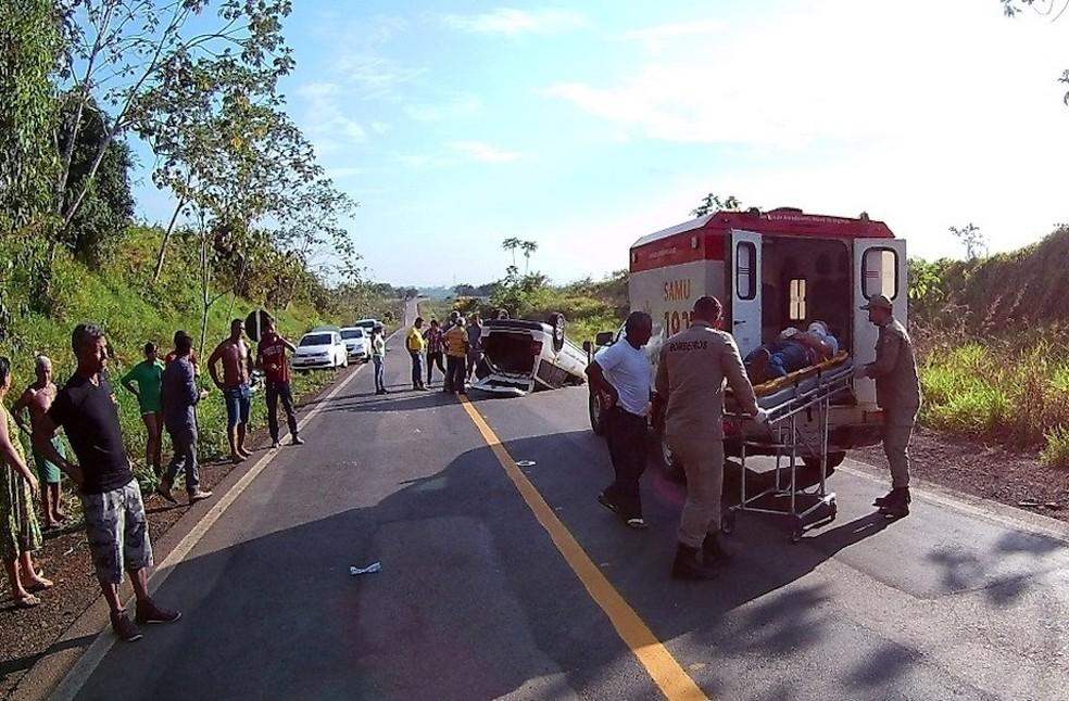 Vítimas não sofreram ferimentos graves, segundo PRF-AC (Foto: Alexandre Lima/Arquivo Pessoal)