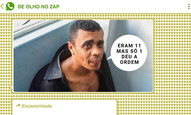 Montagem com Adélio Bispo, autor de facada contra Bolsonaro em 2018, faz referência a ministros do STF