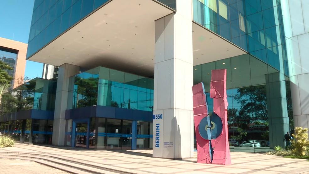 Cellebrite fica em um prédio comercial em SP — Foto: Reprodução/TV Globo