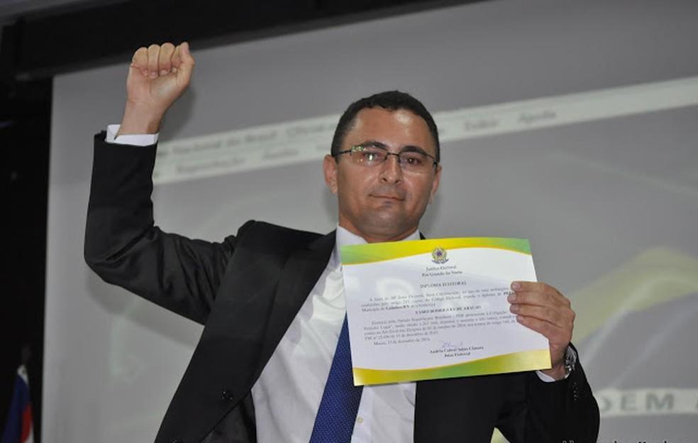 Prefeito de Galinhos, Fábio Rodrigues (Foto: Alexandre Barbosa)
