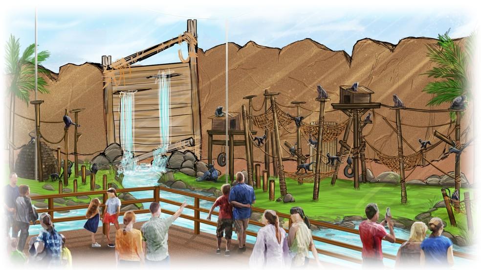 Ilustração mostra uma das novas atrações do Zoo Rio (Foto: Divulgação)