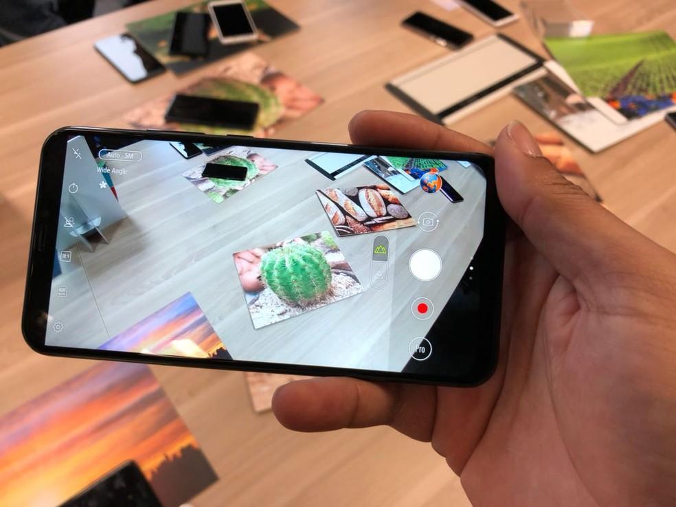 Zenfone 5, novo smartphone da Asus (Foto: Helton Simões Gomes/G1)