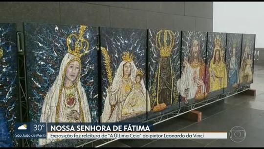 Santuário do Cristo Redentor recebe exposição em homenagem à Nossa Senhora de Fátima