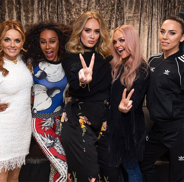 Adele e as Spice Girls (Foto: Instagram)
