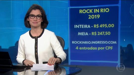 1º lote do Rock in Rio Card, ingresso antecipado para o festival em 2019, está esgotado