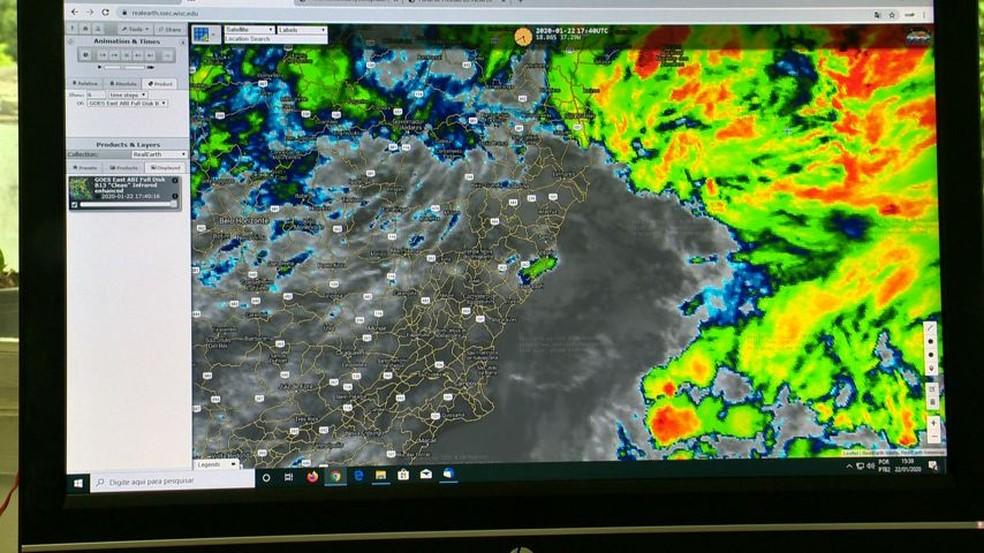 Ciclone vai potencializar chuvas previstas para o ES, diz meteorologista — Foto: Divulgação/ TV Gazeta
