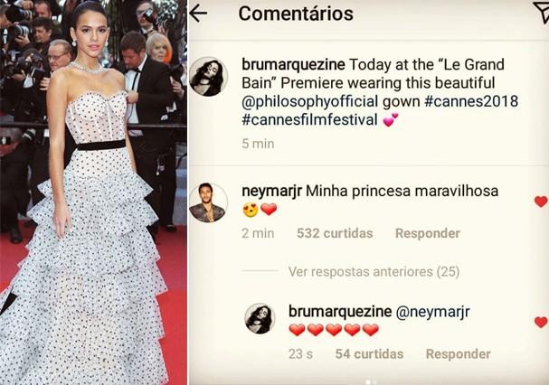 Neymar elogia Marquezine (Foto: Reprodução)