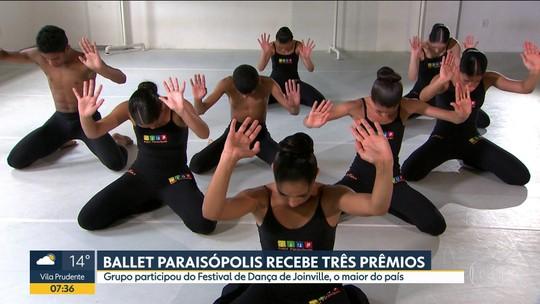 Ballet de Paraisópolis ganhou três prêmios no Festival de Dança de Joinville