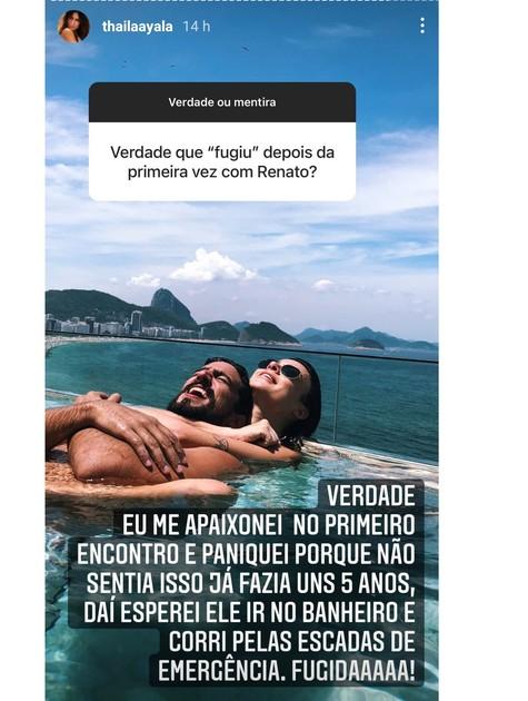 Thaila Ayala fala sobre primeiro encontro com o marido, Renato Góes (Foto: Reprodução Instagram)