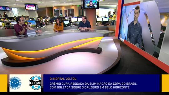 """Jornalista analisa escolhas de Renato Gaúcho no Grêmio: """"Não prioriza o Brasileiro"""""""