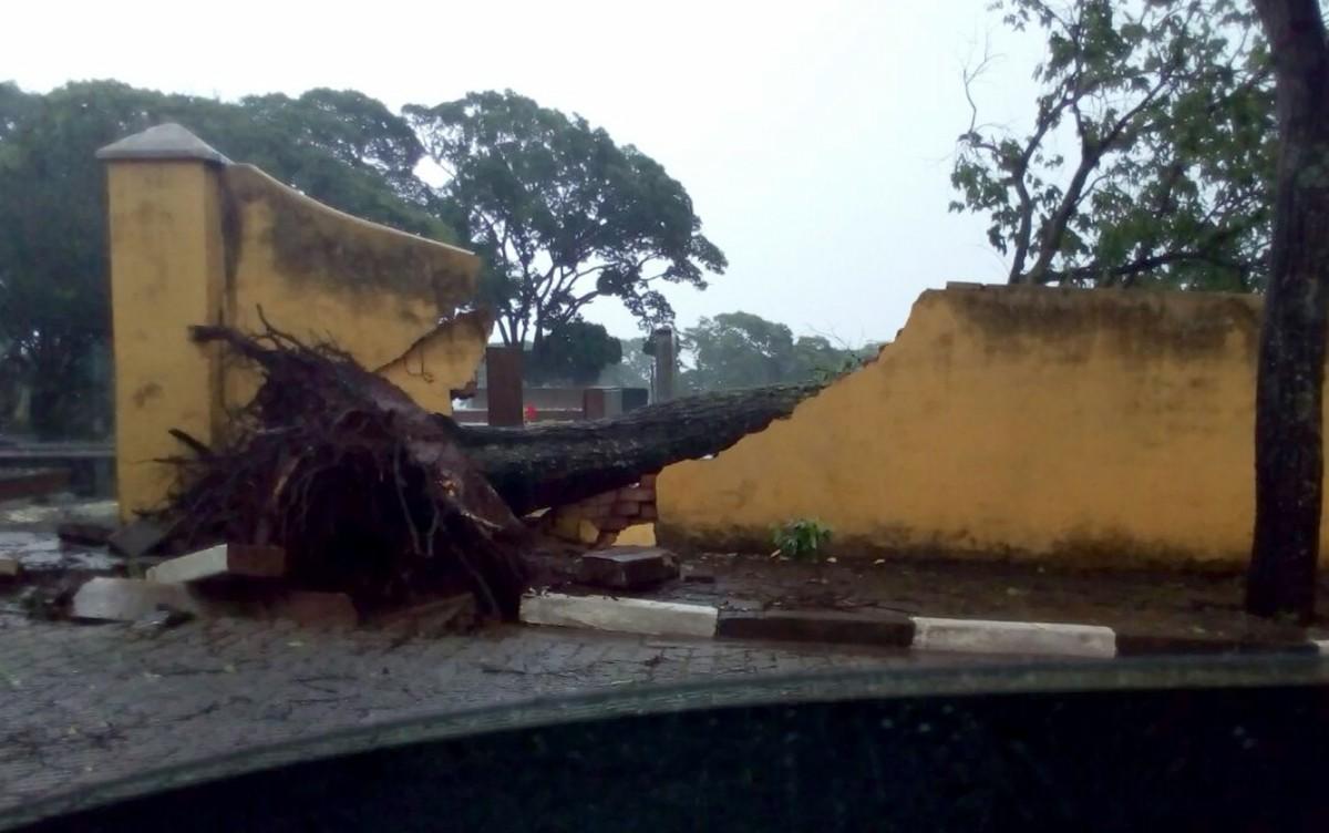Após temporal, cerca de 1,3 mil moradores permanecem sem energia elétrica em Itapira