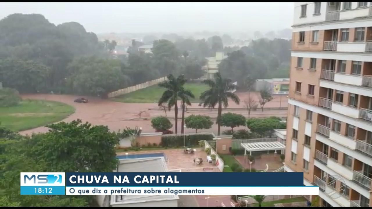 Chuva deixa estragos em diversas regiões de Campo Grande