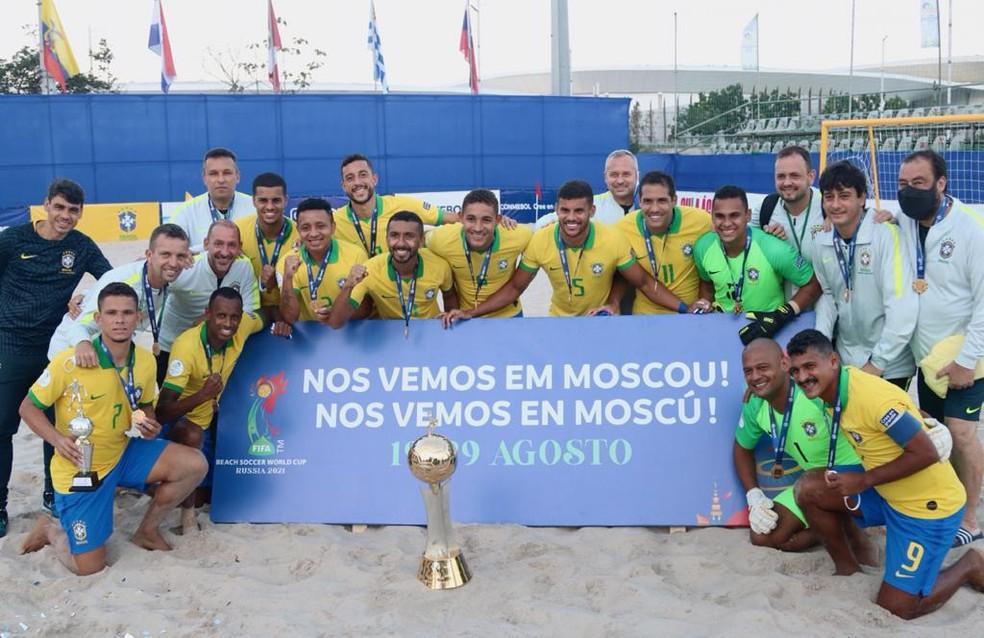 Brasil conquistou o eneacampeonato das Eliminatórias — Foto: Thiego Mattos/ NB Photopress