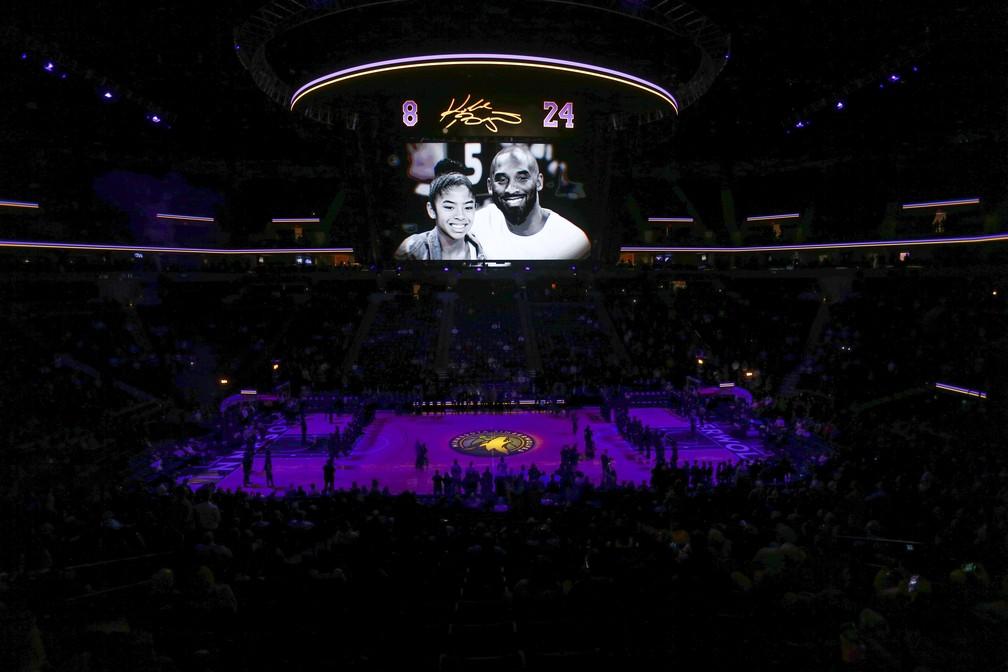 Homenagem a Kobe Bryant — Foto: Bruce Kluckhohn-USA TODAY Sports