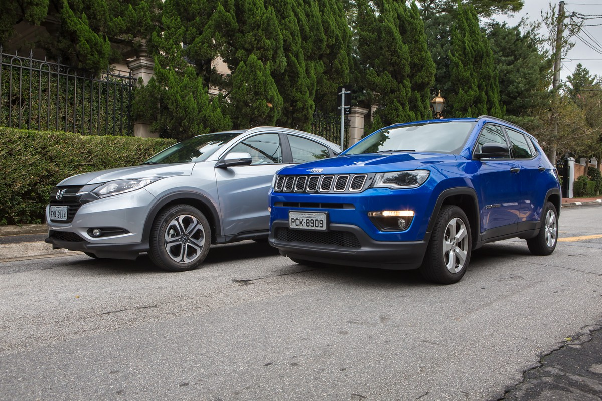 Jeep compass sport x honda hr v touring comparativo for Jeep compass vs honda crv