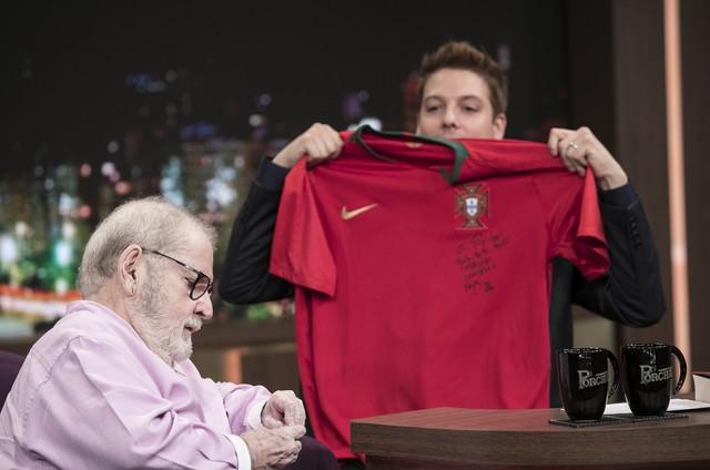 Jô Soares e Fabio Porchat (Foto: Edu Moraes/Record)