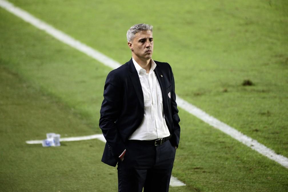 Santos 2 x 0 São Paulo: Hernán Crespo — Foto: Marcos Ribolli
