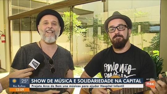 Projeto Arca do Bem une músicos para ajudar Hospital Infantil de Florianópolis