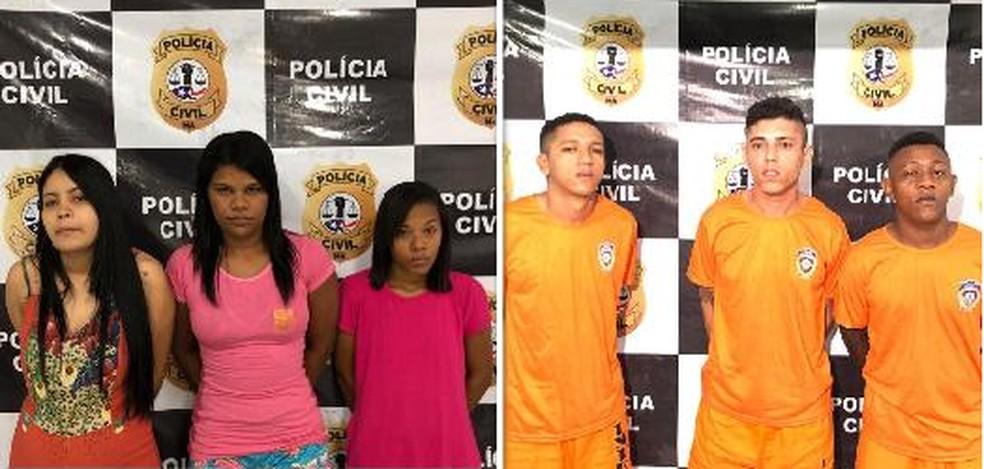 Suspeitos foram presos em flagrante nesta quinta-feira (8) em São Luís (MA) — Foto: Divulgação/Polícia Civil