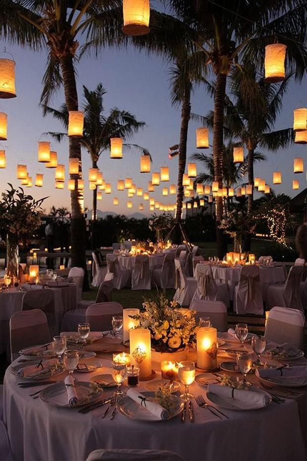 Iluminação em casamento (Foto: Pinterest/Reprodução)