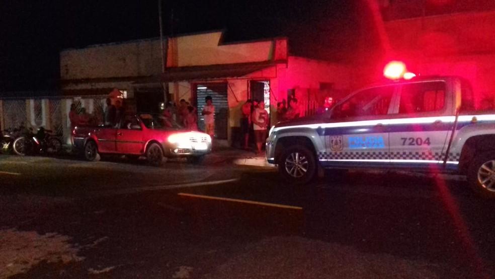 Local onde a jovem Reany Farias Rodrigues foi assassinada — Foto: Polícia Civil/Divulgação