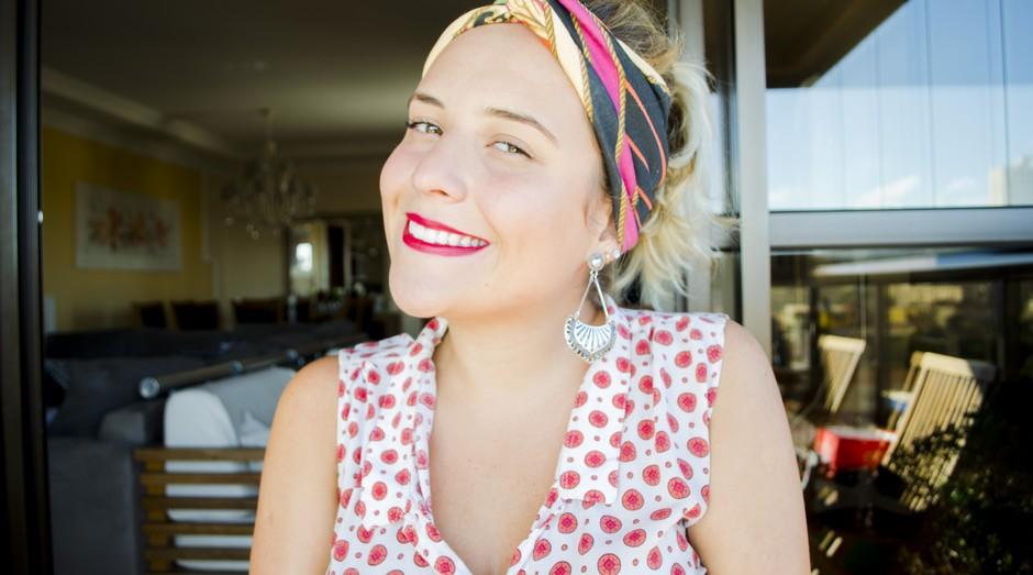 Stephanie Bevilaqua, fundadora da Las Vinchas, que vende faixas de cabelo  (Foto: Divulgação)