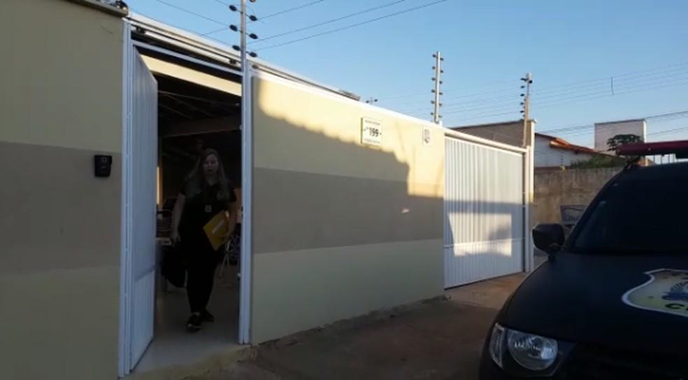 Polícia fez buscas em casas de Araguaína — Foto: Reprodução/SSP