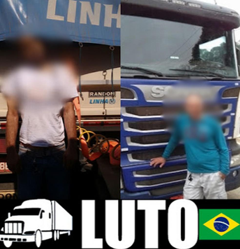 Imagem usada no boato é de caminhoneiro morto em 2016 (Foto: Reprodução/ Redes sociais )
