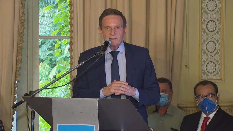 Crivella anuncia a Fase Conservadora  — Foto: Reprodução/TV Globo