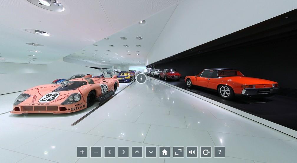Imagem do museu da Porsche, em Stuttgart — Foto: Reprodução