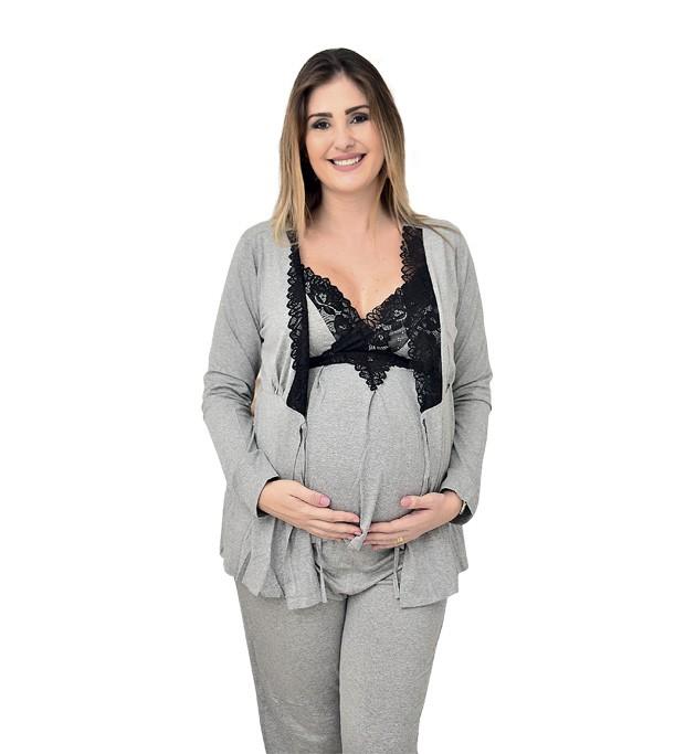 Mãe bela pijamas, R$ 245. Tamanhos do P ao GG. (Foto: Divulgação)