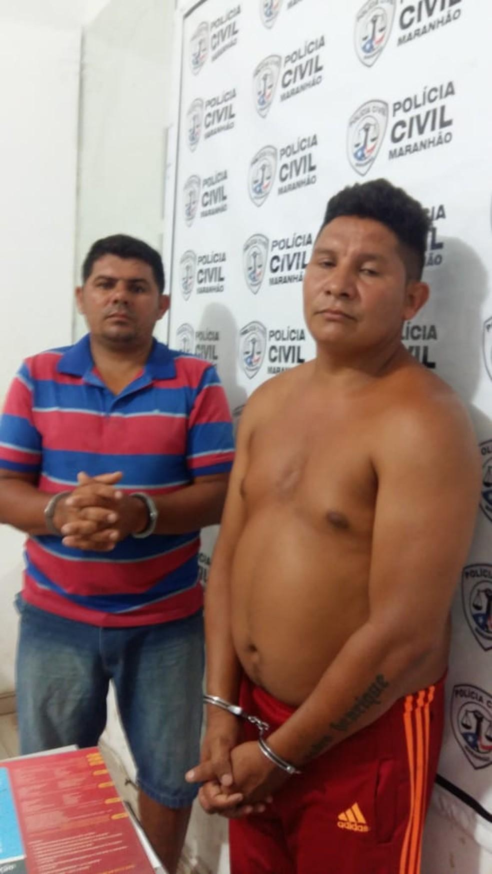 Lázaro de Jesus Cardoso e Cleiton Ferreira Mesquita foram presos em Itapecuru Mirim — Foto: Divulgação/Polícia Civil
