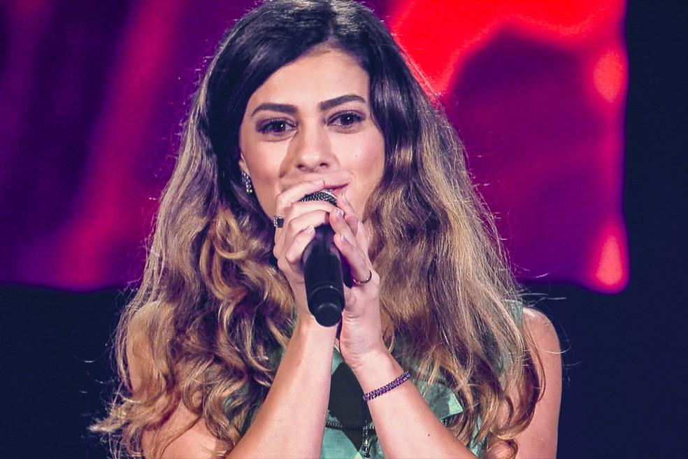 Sofia Moreno canta no 'The Voice' — Foto: Globo/ TV Globo