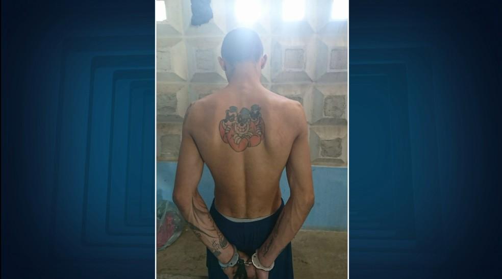 Suspeito foi preso suspeito de participar do homicídio de um policial em Hortolândia (SP) (Foto: Reprodução/EPTV)