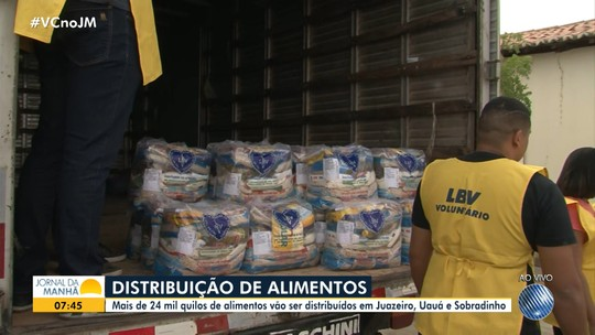 LBV doa mais de 24 toneladas de alimentos para famílias carentes do norte do estado