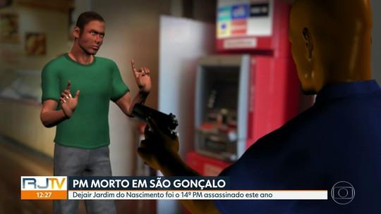 Corpo do 14º PM assassinado este ano no RJ é enterrado em São Gonçalo