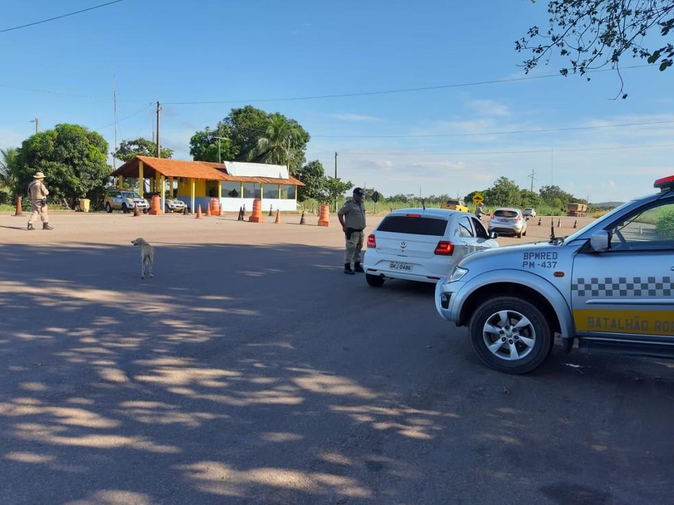 Rodovias estaduais tiveram o policiamento reforçado nesta quarta — Foto: Divulgação/Polícia Militar