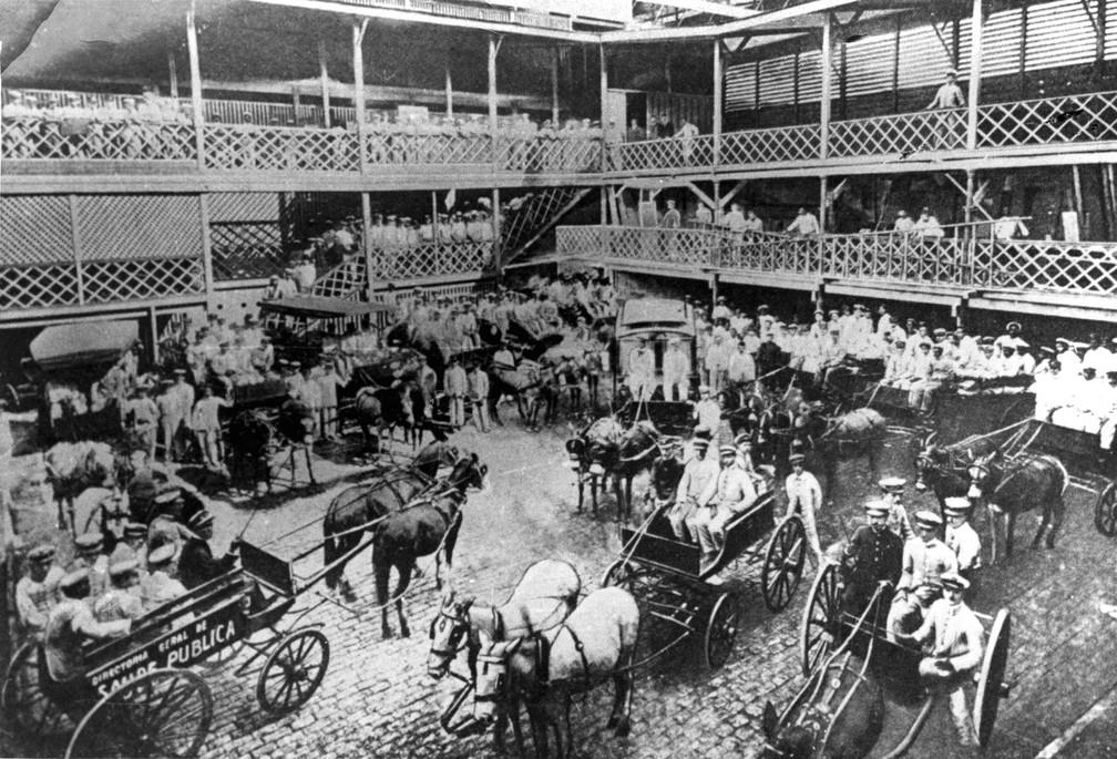 Brigada de combate ao mosquito, do Serviço de Profilaxia da Febre Amarela, em 1905  (Foto: Acervo Casa de Oswaldo Cruz/Fiocruz)