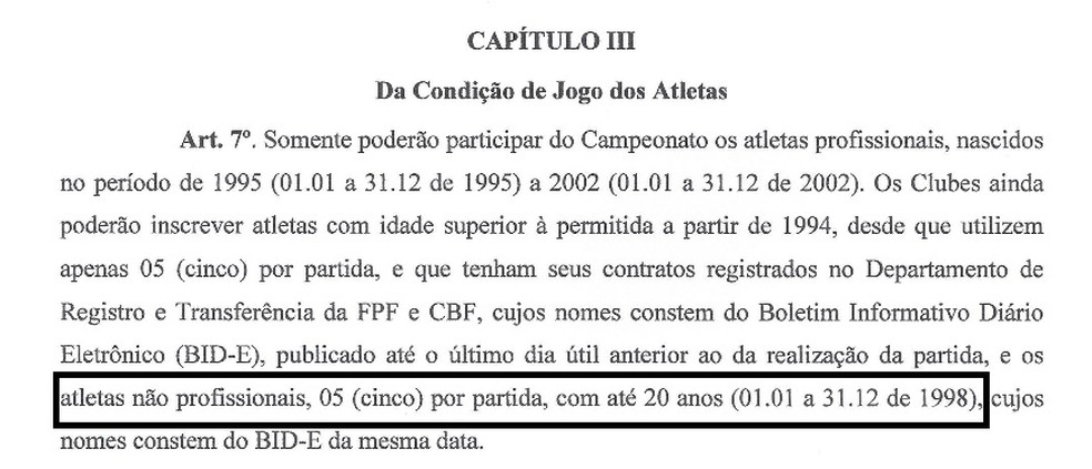 Regulamento da 2ª divisão do Campeonato Paraibano, 2ª divisão do Campeonato Paraibano, FPF, Federação Paraibana de Futebol — Foto: Reprodução
