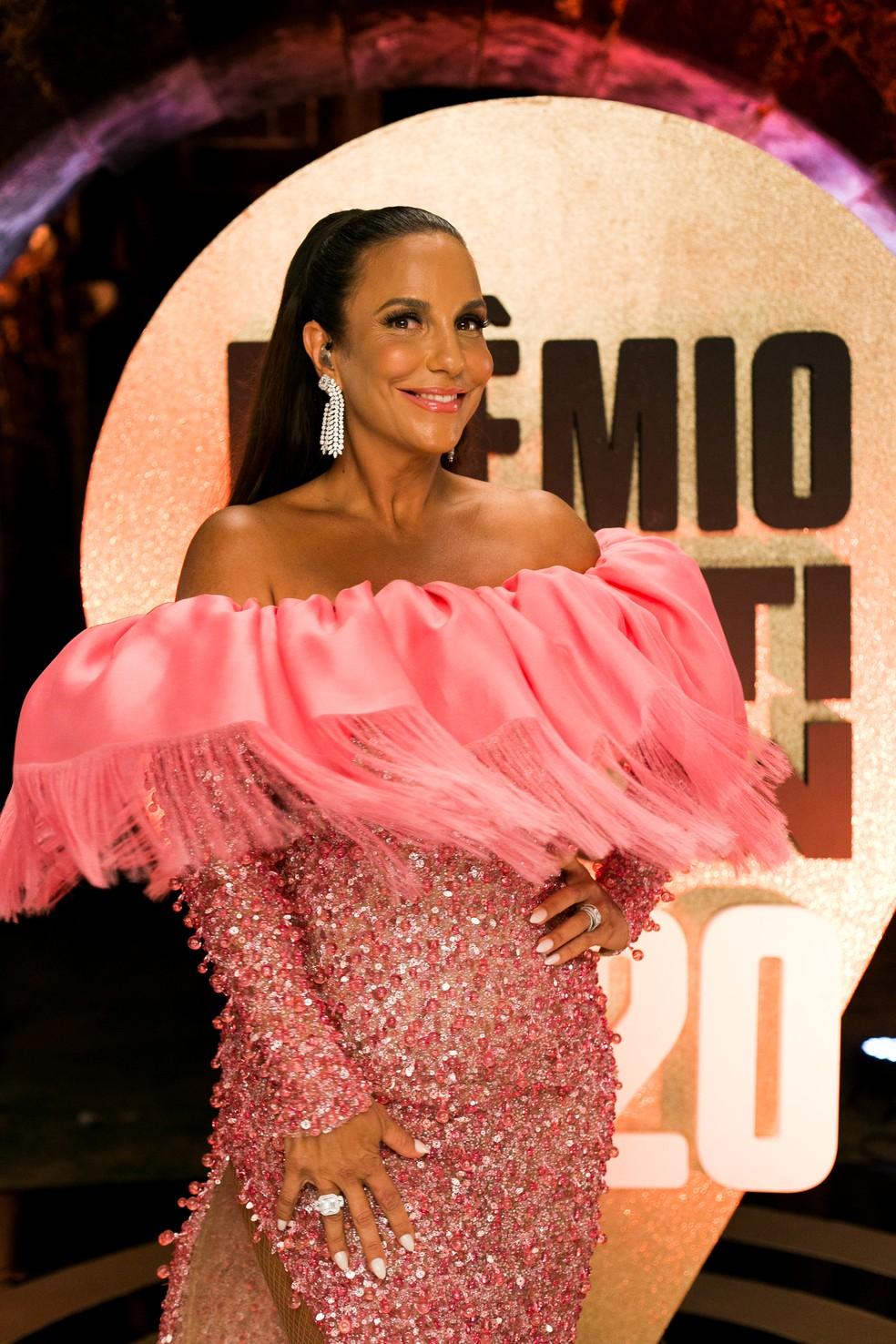 Ivete Sangalo se apresenta no Prêmio Multishow 2020 — Foto: Hate Fash/Divulgação