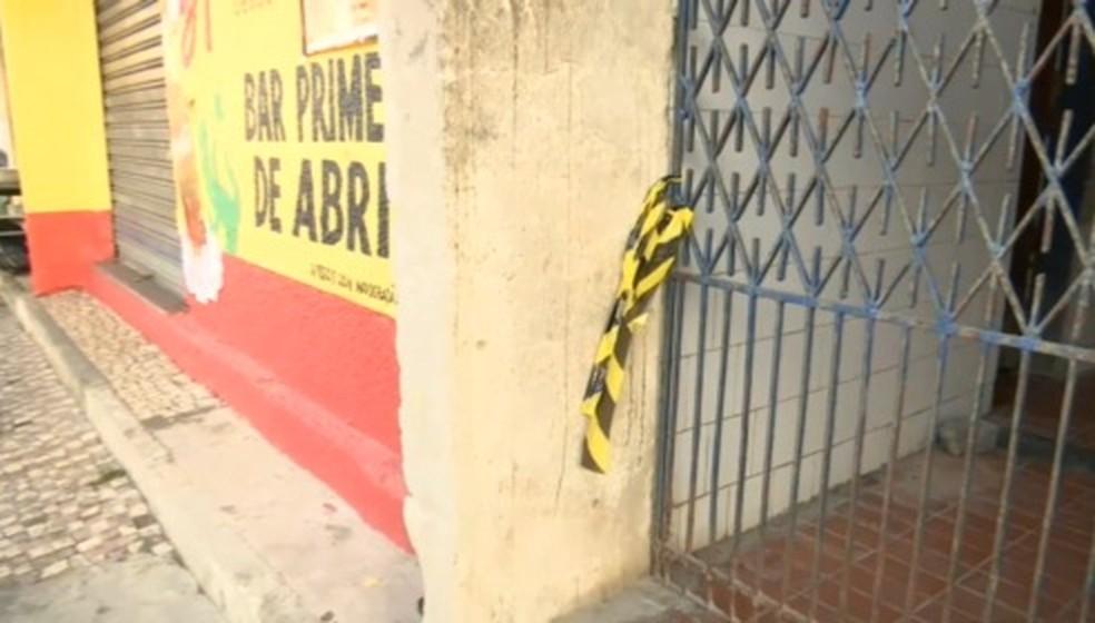 Agente penitenciário é morto dentro de bar, no Ceará. — Foto: TV Diário