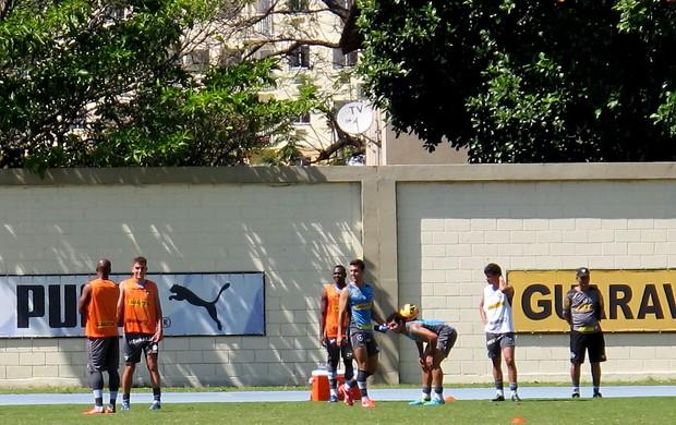 jogadores botafogo treino (Foto: Thales Soares)