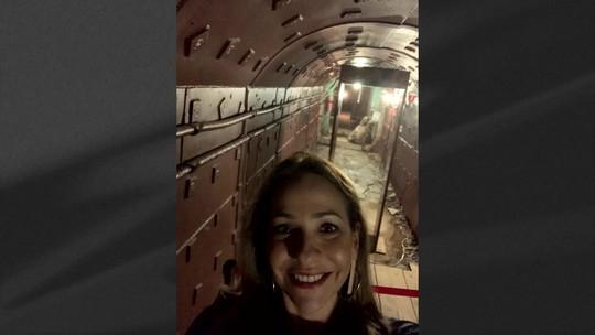 Maria Beltrão visita abrigo secreto criado pela Rússia durante Guerra Fria