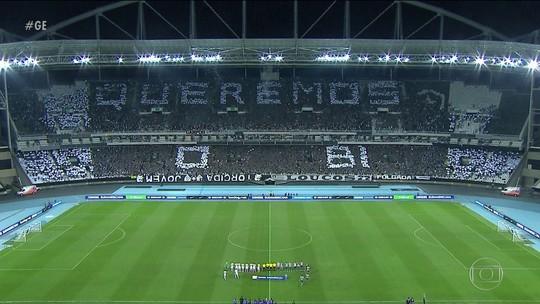 O contraste entre as torcidas nas partida de Botafogo e Fluminense pela Sul-Americana