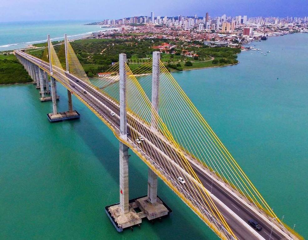Ponte Newton Navarro ligas as regiões Leste e Norte de Natal — Foto: Ney Douglas