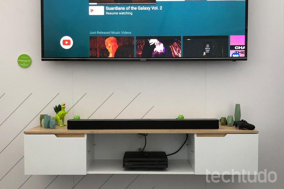 JBL e Google se uniram para criar a Link Bar, soundbar inteligente (Foto: Nicolly Vimercate/TechTudo)