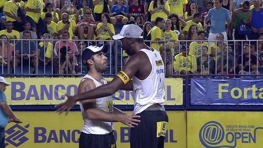 Evandro e Bruno Schmidt vencem Álvaro e Ricardo e faturam a etapa de Fortaleza
