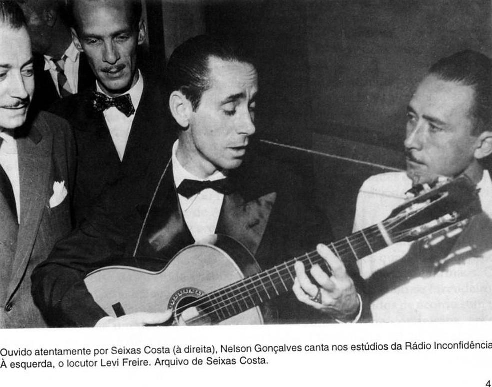 Nelson Gonçalves foi uma das estrelas do rádio que se apresentaram na Inconfidência — Foto: Rádio Inconfidência/Arquivo